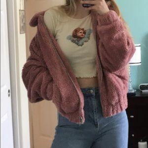 BDG Oversized Fuzzy Jacket